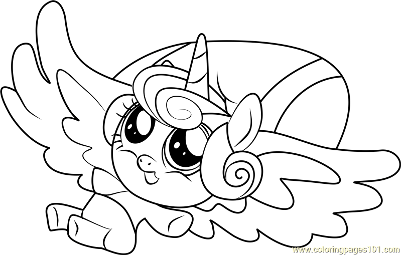 Flurry Heart My Little Pony Coloring Page