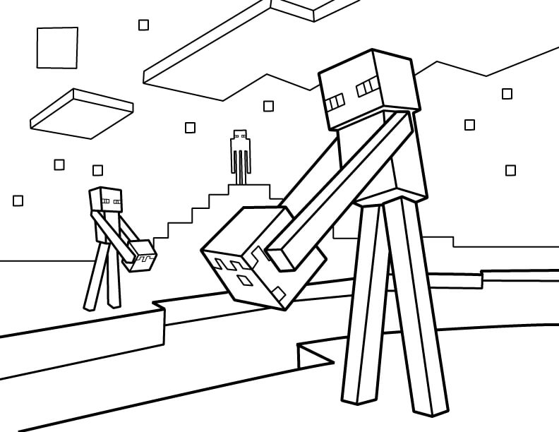 Marvelous Minecraft Enderman Coloring Page