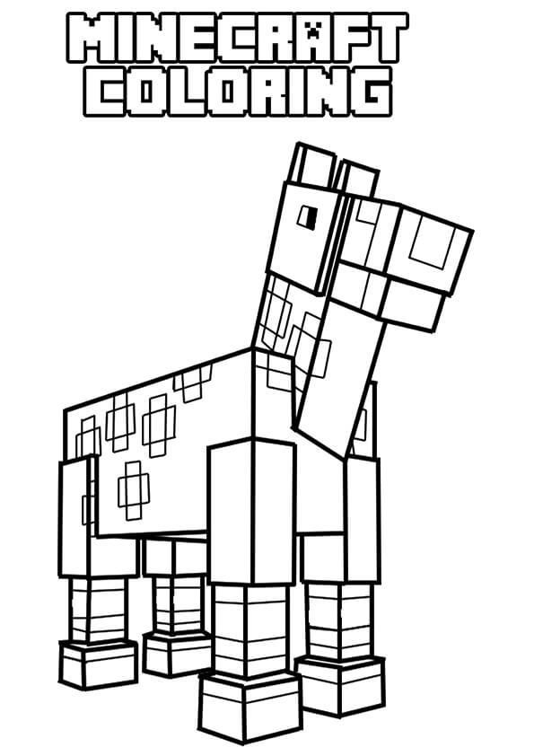 Minecraft Horse Coloring Page