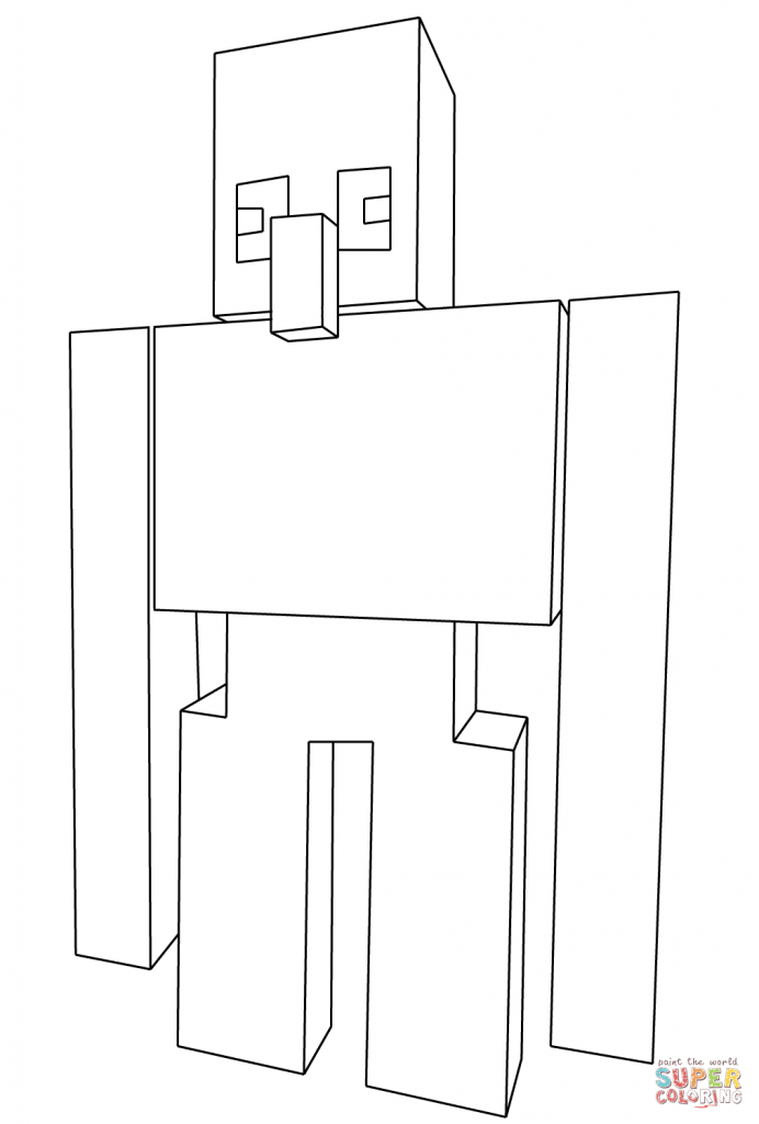 Minecraft Iron Golem Coloring Page