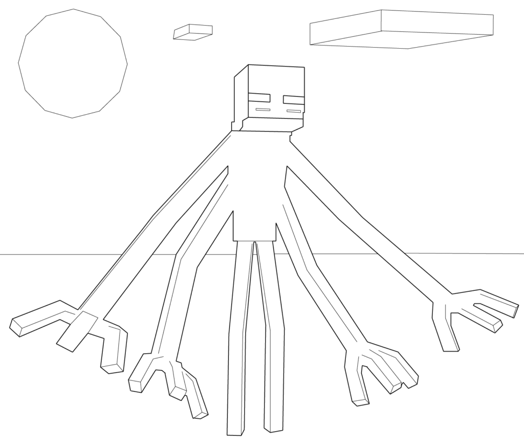 Minecraft Mutant Enderman Coloring Page