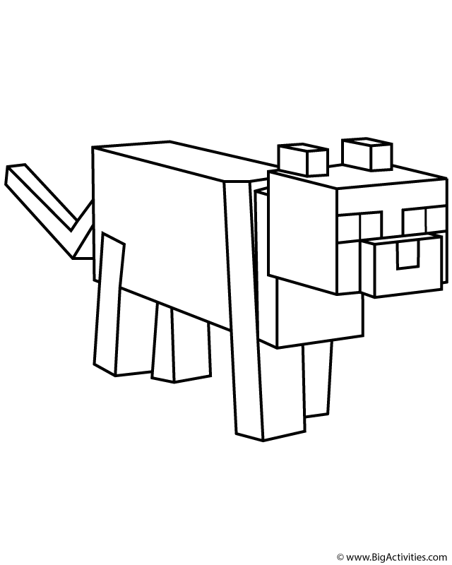 Minecraft Ocelot Coloring Page