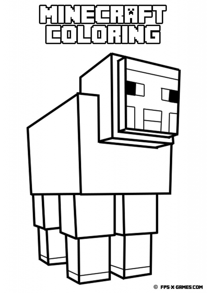 Sheep Minecraft Coloring Pages