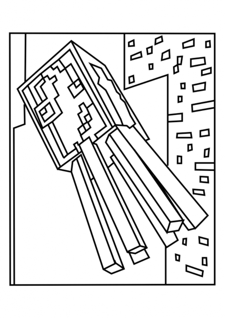 Minecraft Squid Coloring Page