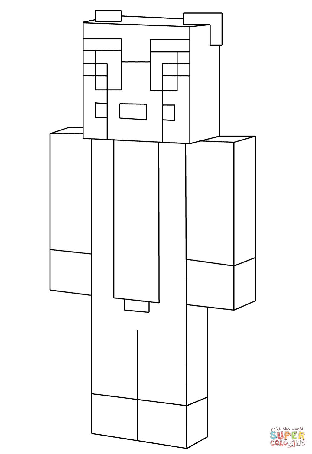 Minecraft Stampy Coloring Page