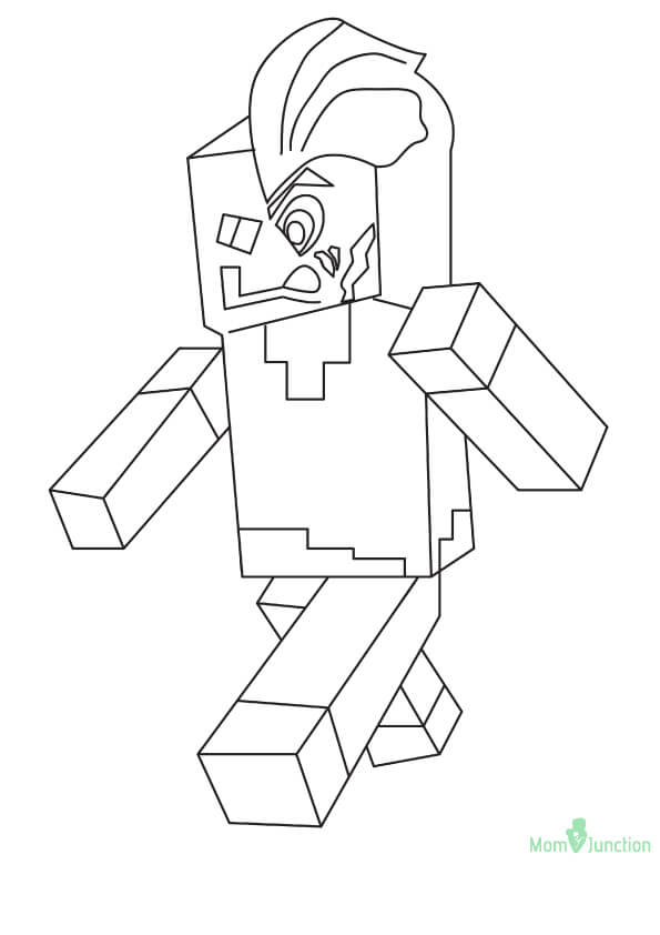 Minecraft Two Face Coloring Page