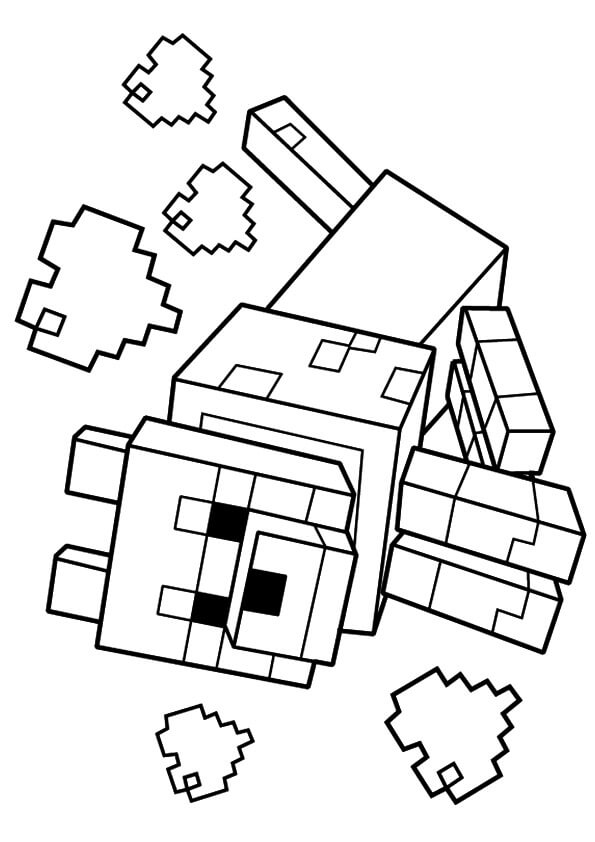 This is a photo of Crush Minecraft Coloring Pages Printable