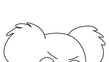 Nom Nom We Bare Bears Coloring Page