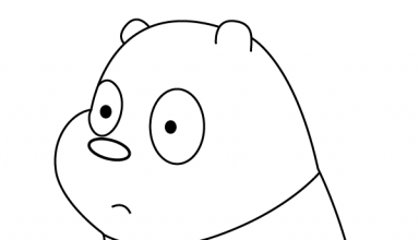 Panda Bear In A Serious Mood Coloring Page