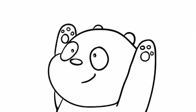 Panda Bear We Bare Bears Coloring Page