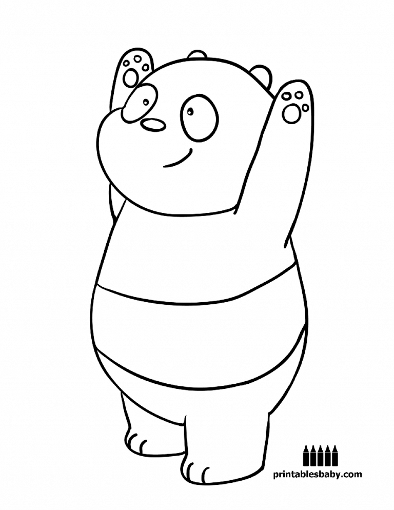 Panda Bear We Bare Bears Coloring Page