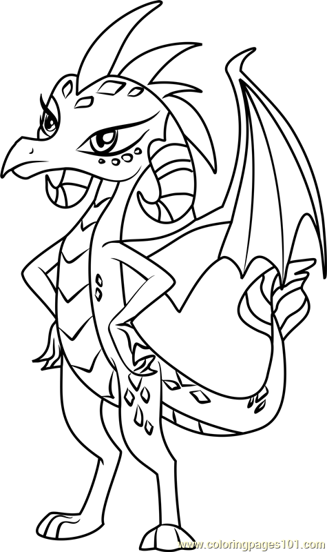 Princess Ember My Little Pony Coloring Page