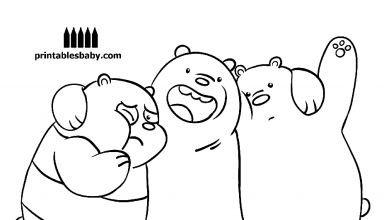 The Trio We Bare Bears Coloring Pages