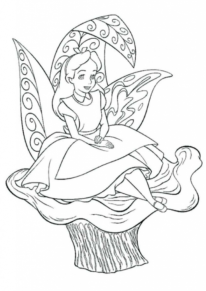 Princess Coloring Pages Alice in Wonderland