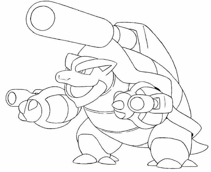 Wartortle Pokemon Coloring Pages