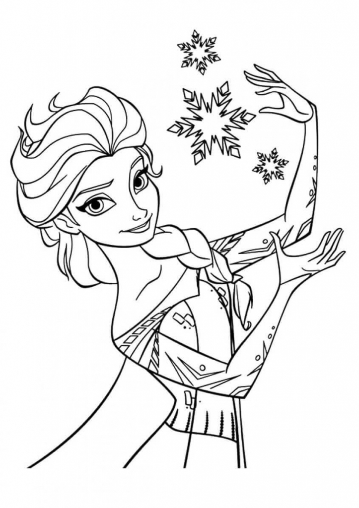 Princess Coloring Pages Elsa from Frozen