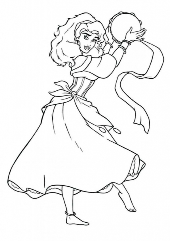 Princess Coloring Pages Esmeralda