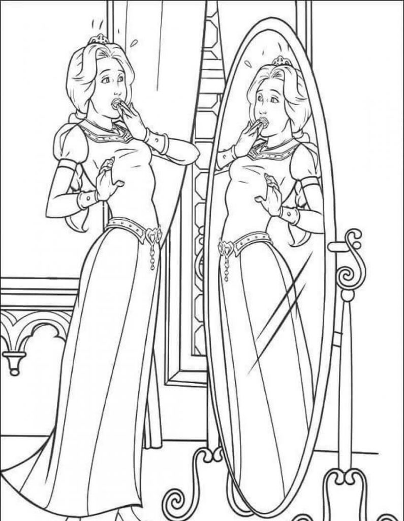Princess Coloring Pages Fiona