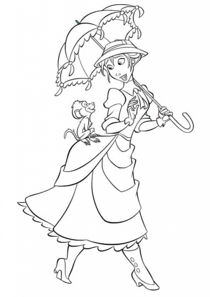 Princess Coloring Pages Jane from Tarzan