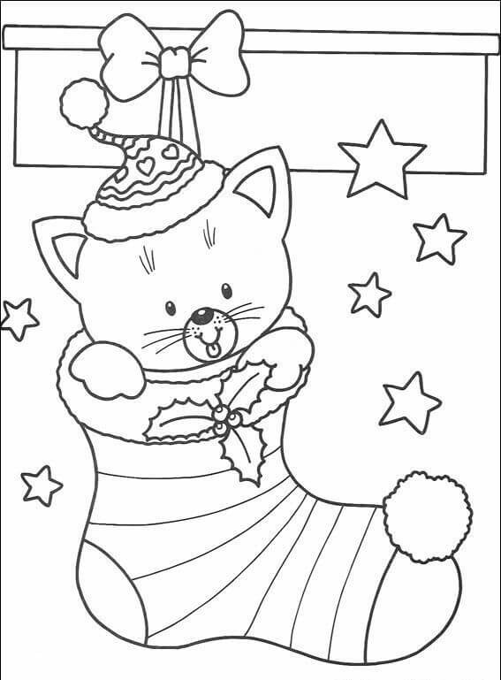 Stockings Christmas Coloring Pages