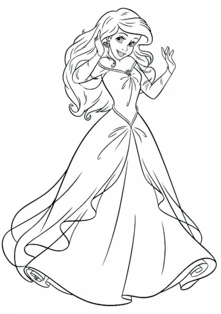 Princess Coloring Pages Ariel