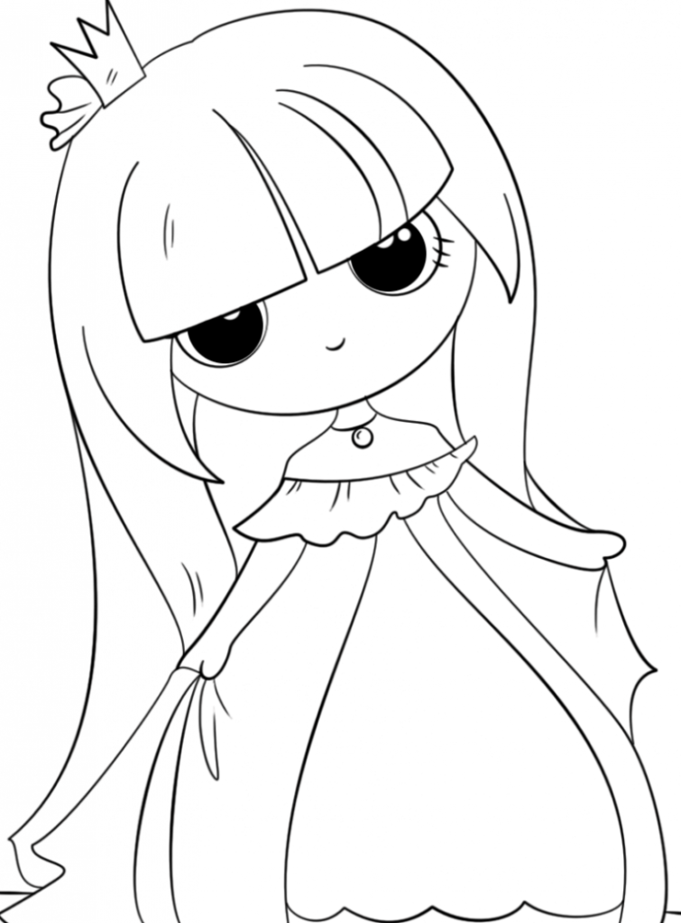 Kawaii Princess Coloring Pages