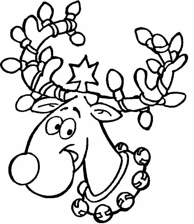 Rudolf Christmas Coloring Pages