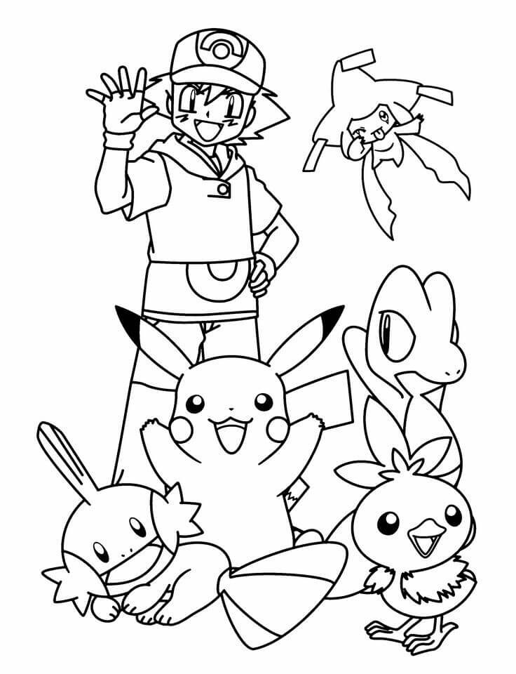 Ash Ketchum Pokemon Coloring Pages