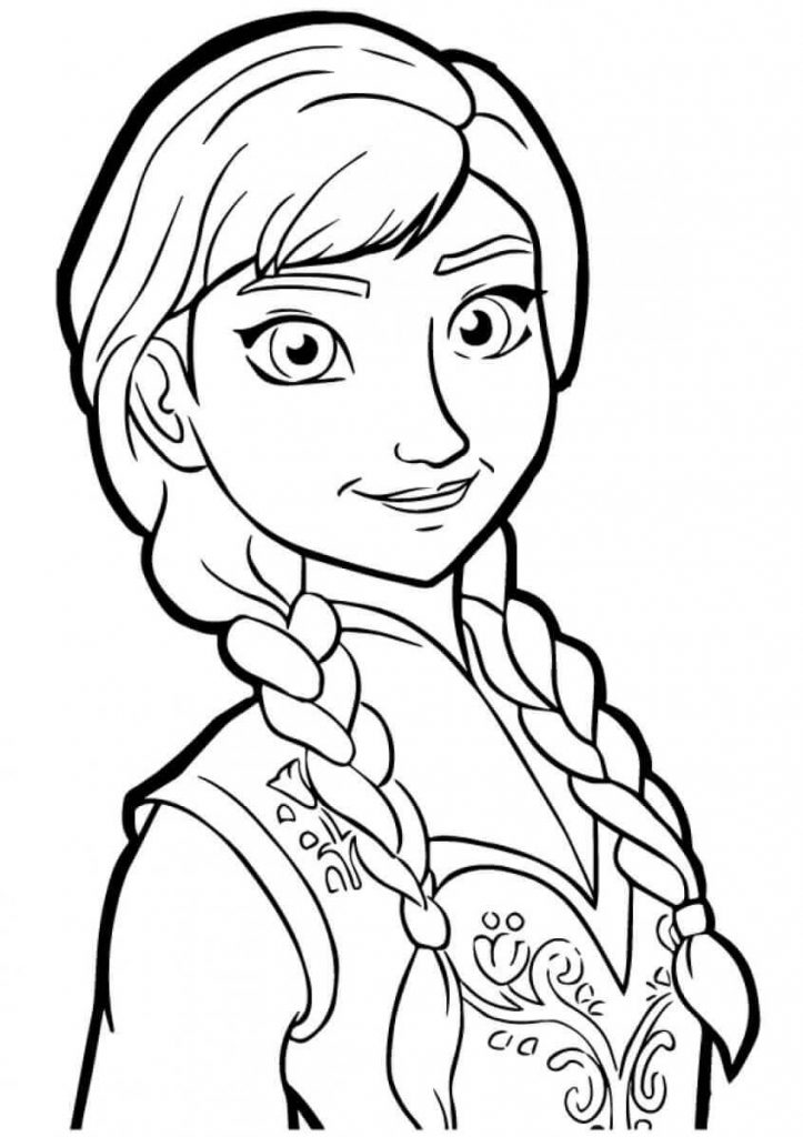 Princess Coloring Pages Anna from Frozen