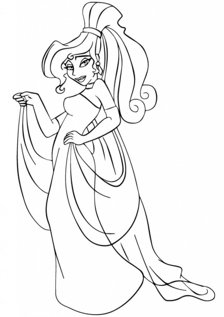 Princess Coloring Pages Megara