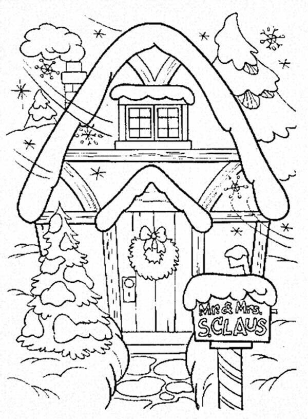 Santa Claus Christmas Coloring Pages