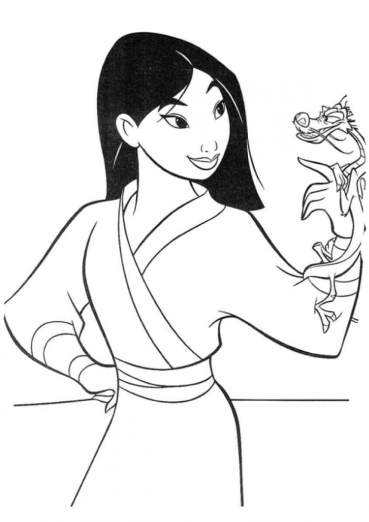 Princess Coloring Pages Mulan