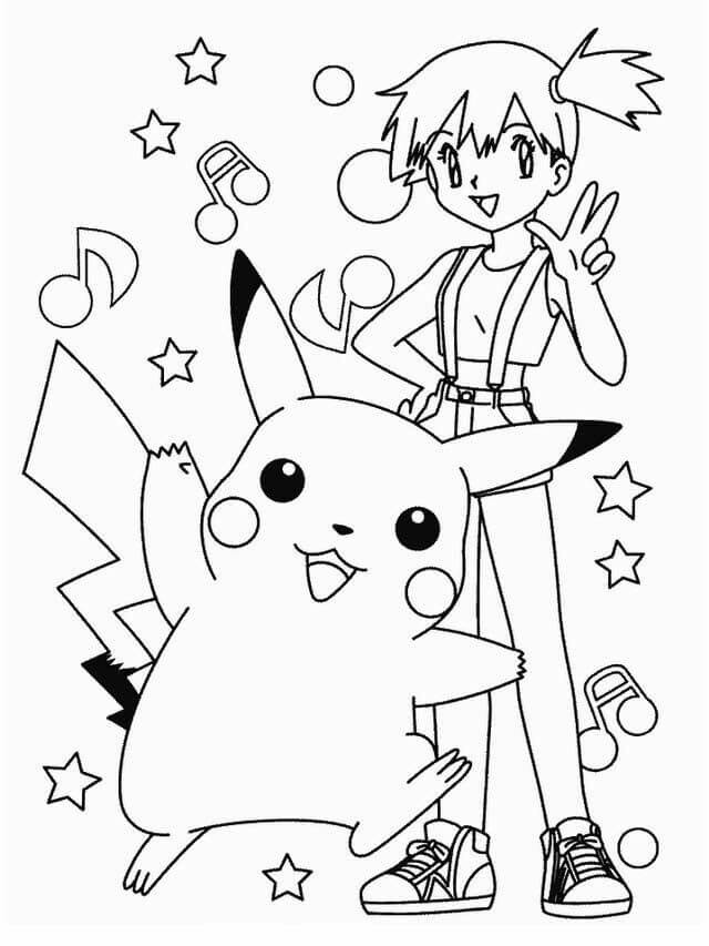 Beautiful Misty Pokemon Misty Beautiful Coloring Pages