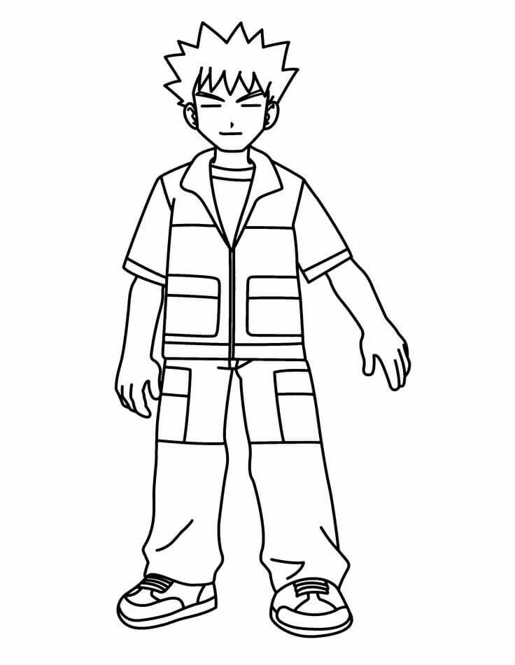 Brock Pokemon Coloring Pages