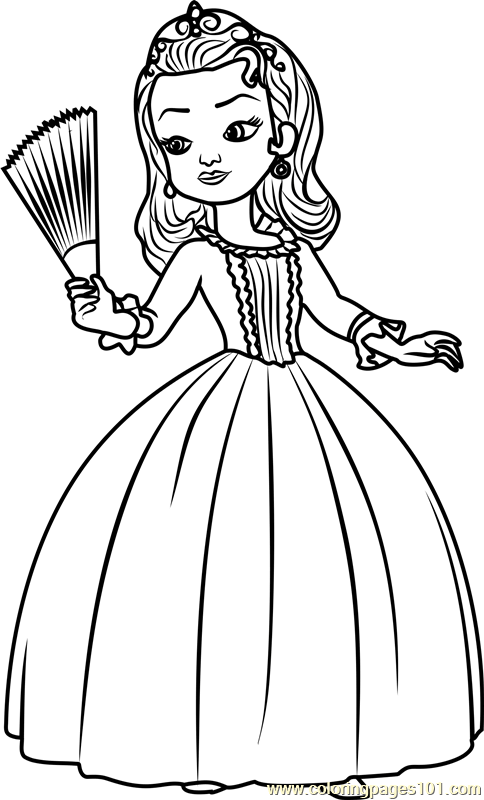 sofia the first coloring pages family | Top 40 Printable Princess Coloring Pages