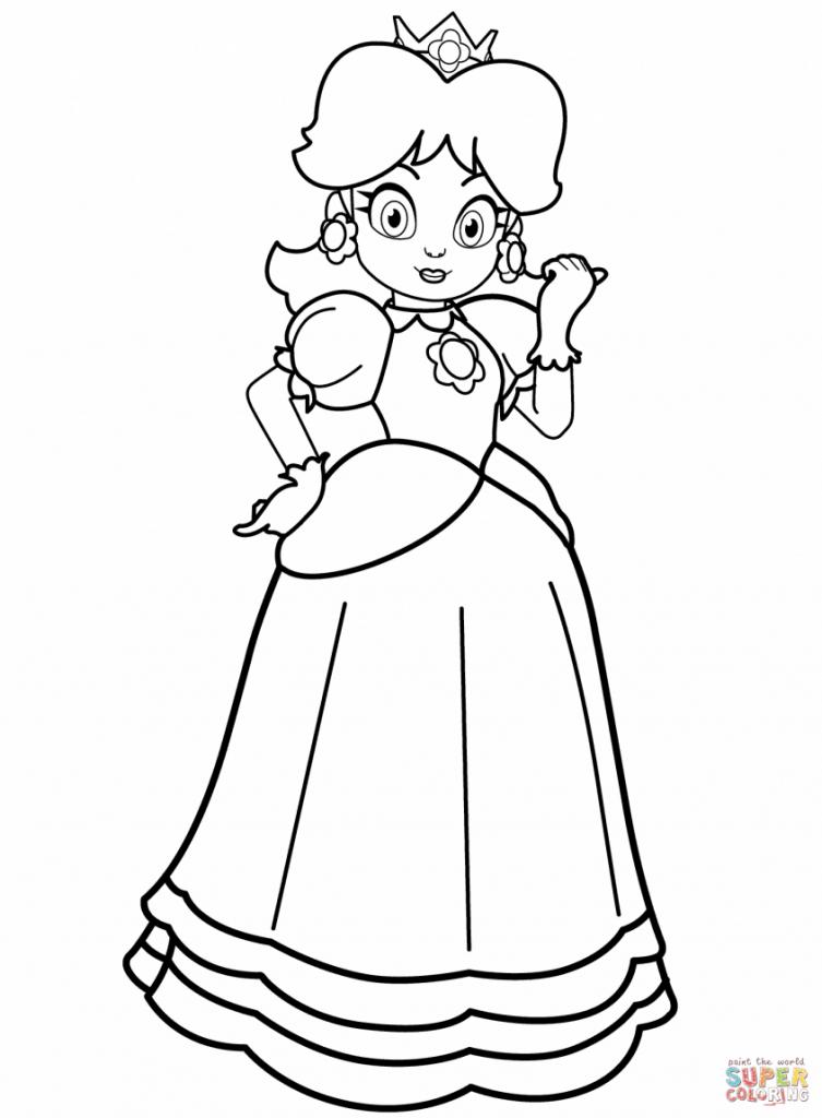 Princess Daisy Coloring Page