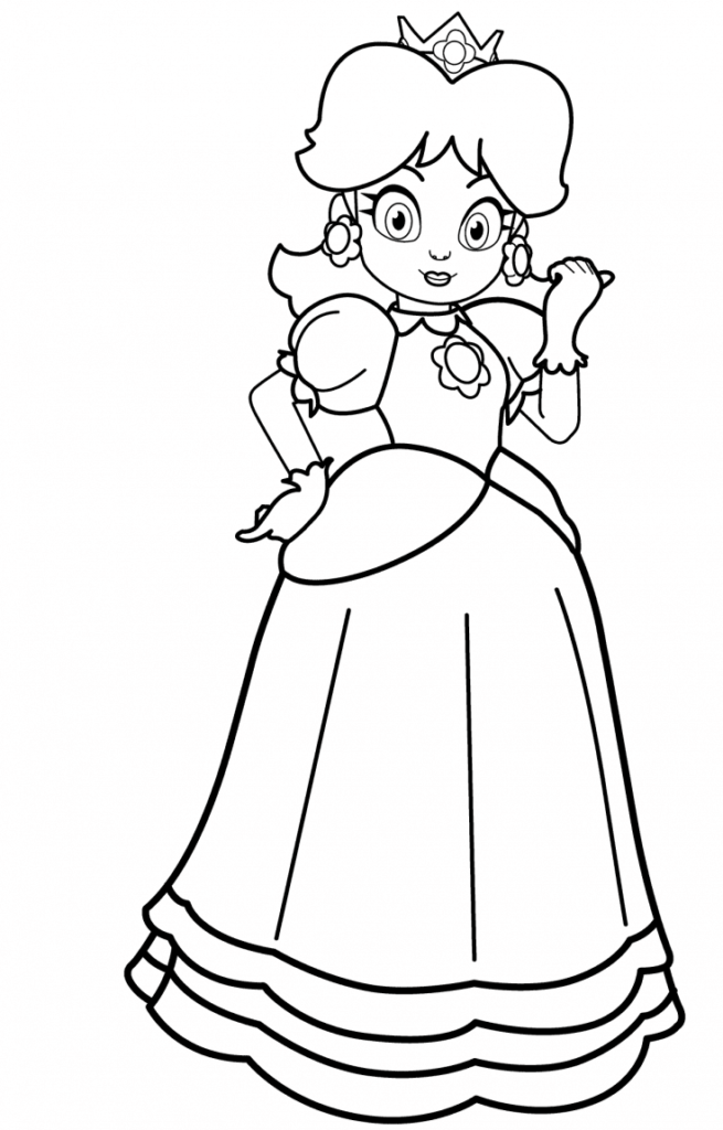 Princess Daisy Coloring Page