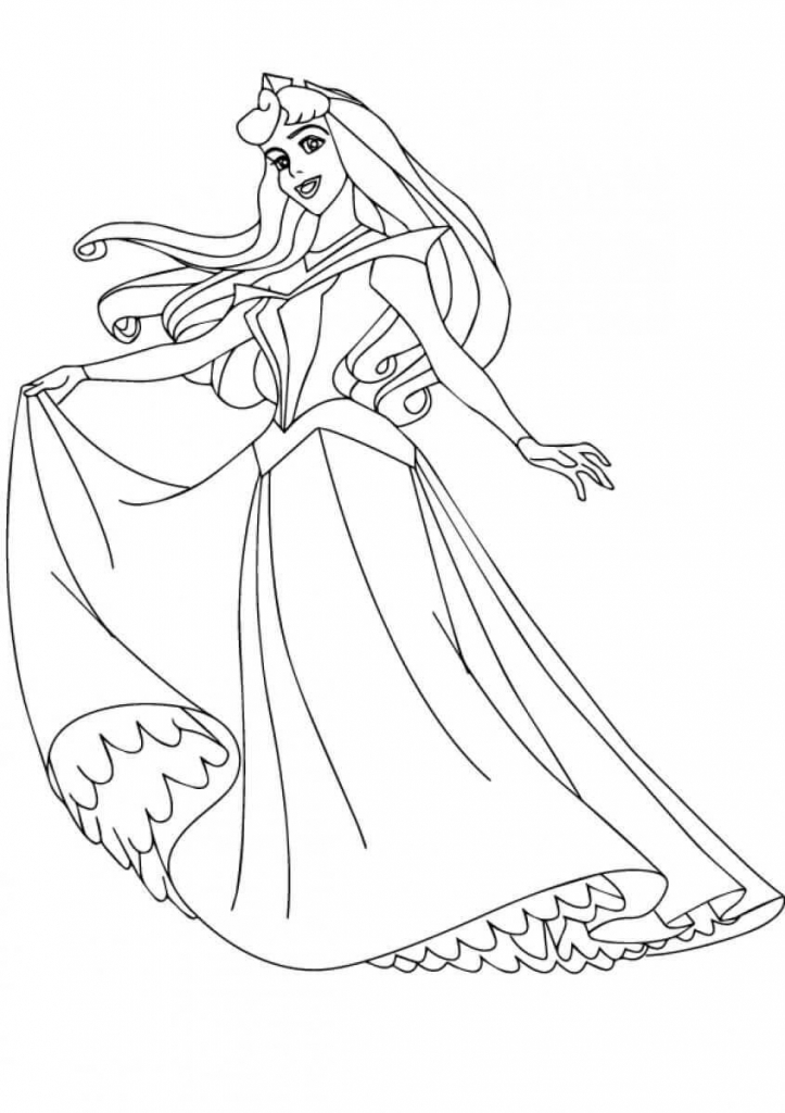 Princess Coloring Pages Aurora