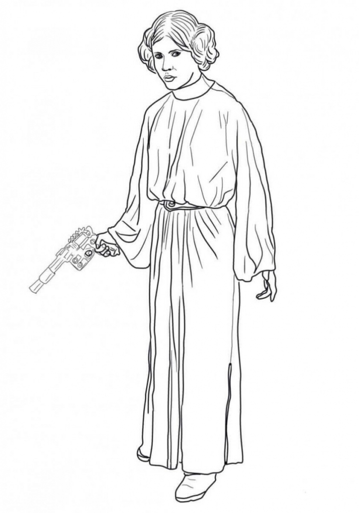 Princess Leia Coloring Page