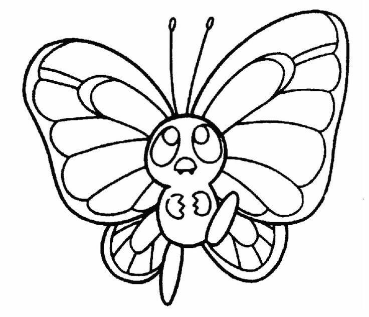 Butterfree Pokemon Coloring Pages
