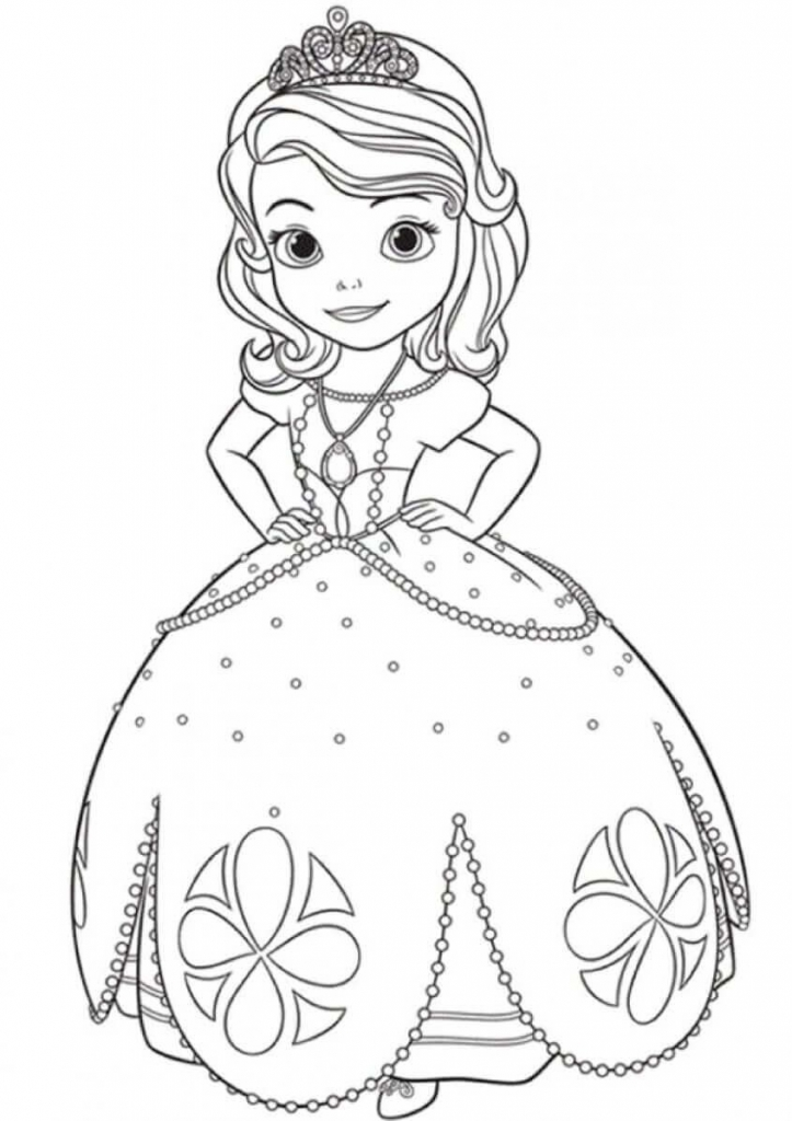 Princess Coloring Pages Sofia
