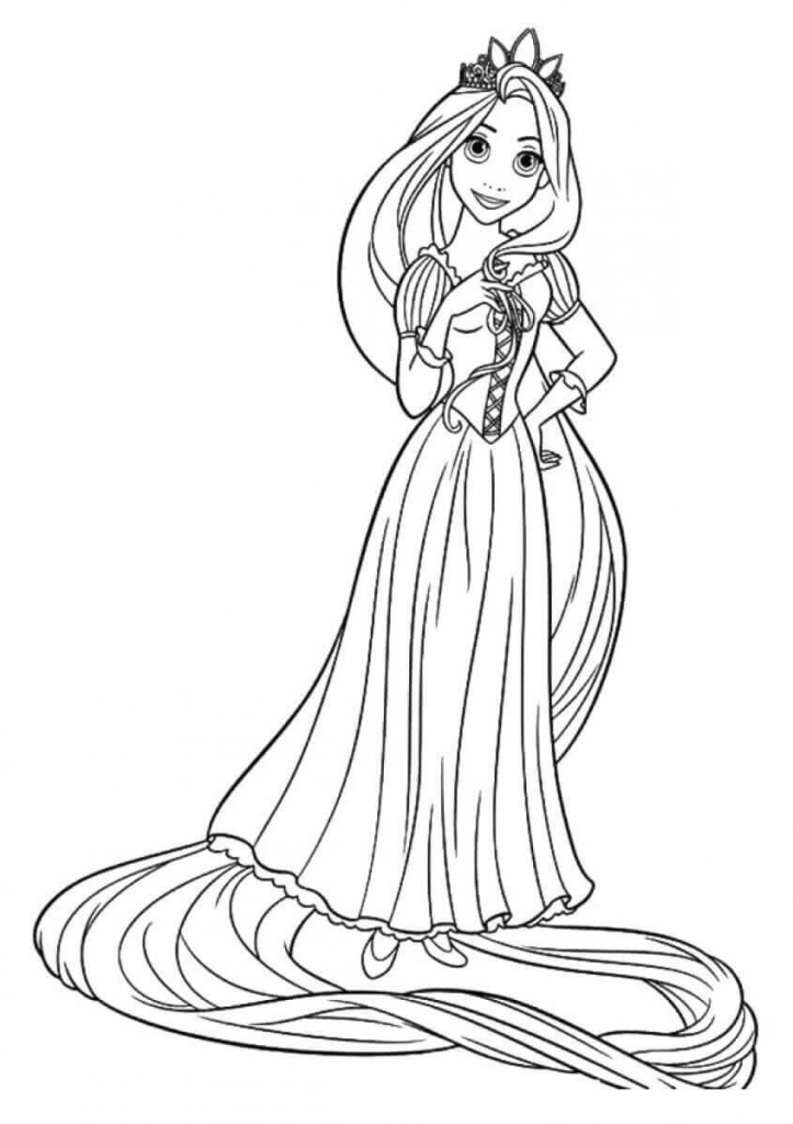 Princess Coloring Pages Rapunzel