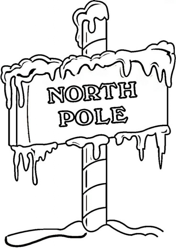 Christmas North Pole Coloring Pages