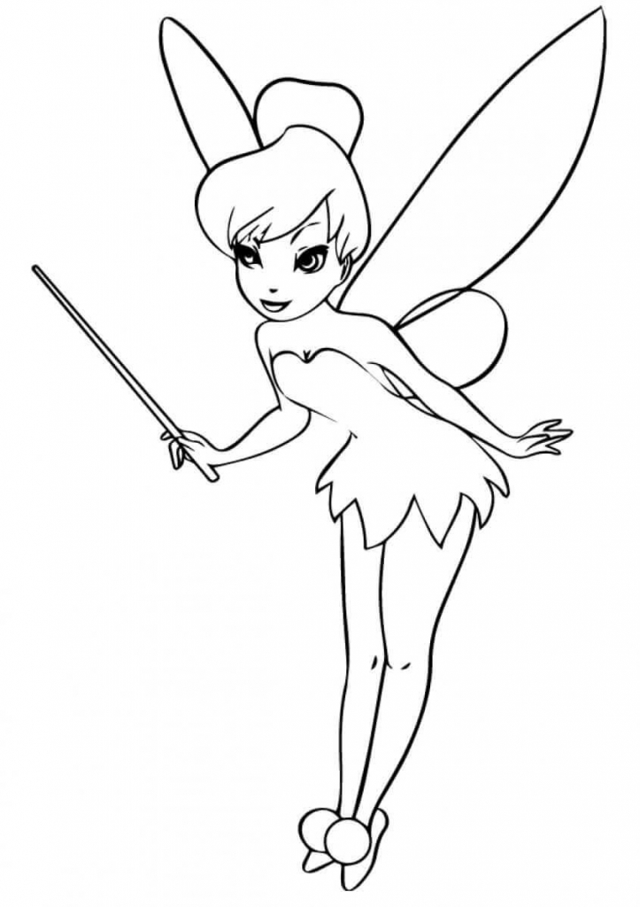 Princess Coloring Pages Tinkerbell