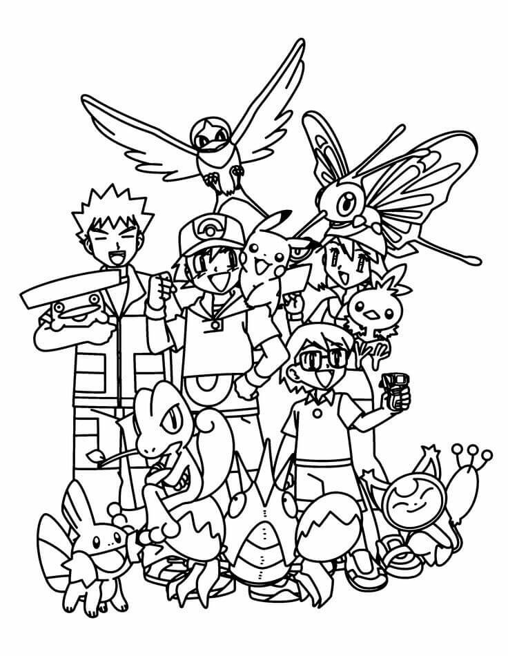 Top 93 Free Printable Pokemon Coloring Pages Online | 950x736