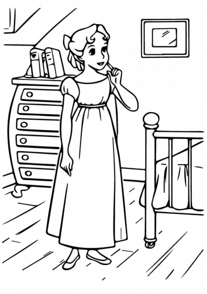 Princess Coloring Pages Wendy
