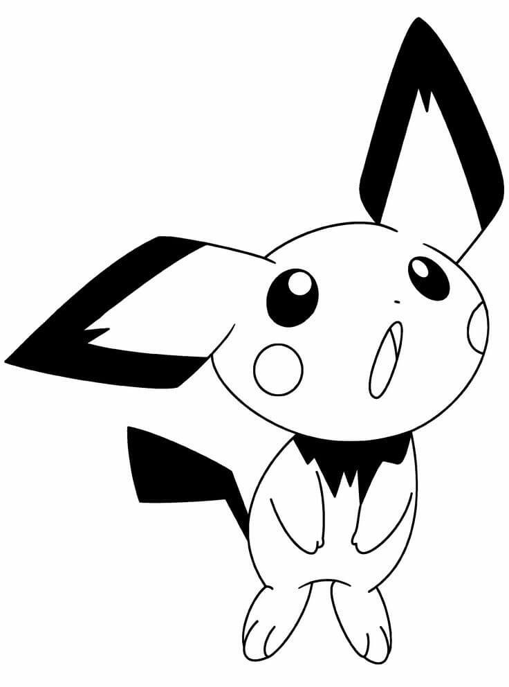 Raichu Pokemon Coloring Pages