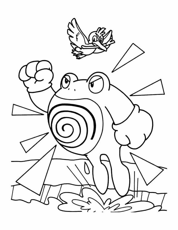 Poliwrath Pokemon Coloring Pages
