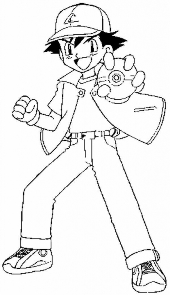 Ash Pokemon Coloring Pages