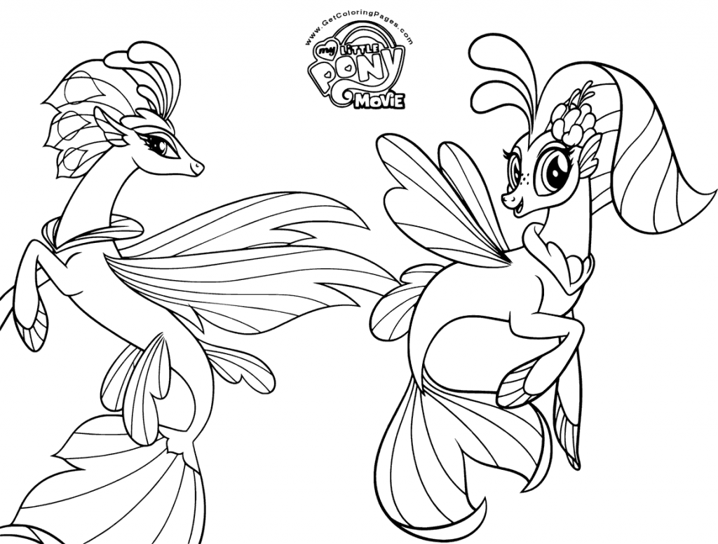 Coloring Pages My Little Pony The Movie : Printable my little pony the movie coloring pages